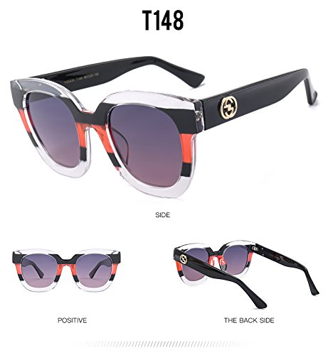 del Mujeres Marca Calidad polarizadas Plaza Fygrend de Las la Remiendo T148 de de Manera Negro de Sol Femeninas Gafas Gafas T152 con Sol Color Sombras X7AAvqznx5