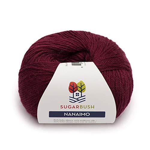 Sugar Bush Yarn 6480121214P10 Nanaimo Ball of Yarn, One Size, Pinot Noir (Yarn Silk Alpaca)