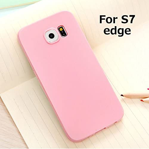 Galaxy S7 Edge Jelly Case, ANLEY Candy Fusion Series - [Shock Absorption] Classic Jelly Silicone Case Soft Cover for Samsung Galaxy S7 Edge (Baby Pink)  Sales