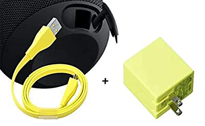 IENZA Replacement USB Charging Cable Cord Wire and AC Power Adapter for Ultimate Ears UE Wonderboom, UE Boom and UE Roll (NOT Compatible with Megaboom)