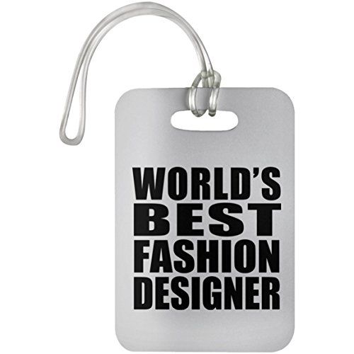 World's Best Fashion Designer - Luggage Tag, Suitcase Bag ID Tag