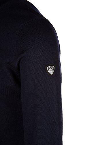 Emporio Armani EA7 Herren Pullover Pulli Herrenpulli mit Zip blu