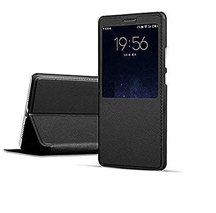 new styles f1bc8 a4a92 Newlike Nokia 3.1 Plus Flip Case, NewLike Double Window PU Leather NewLike  Perfect Fitting Premium Quality Flip Cover for Nokia 3.1 Plus - Black