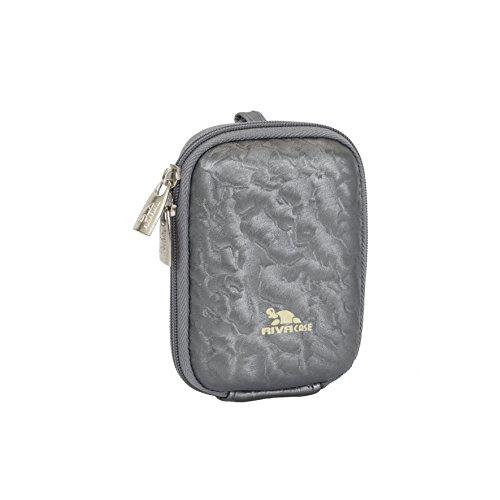 Rivacase 7022 Polyurethane Digital Camera Case Grey/Shiny - Hard Camera Case Digital