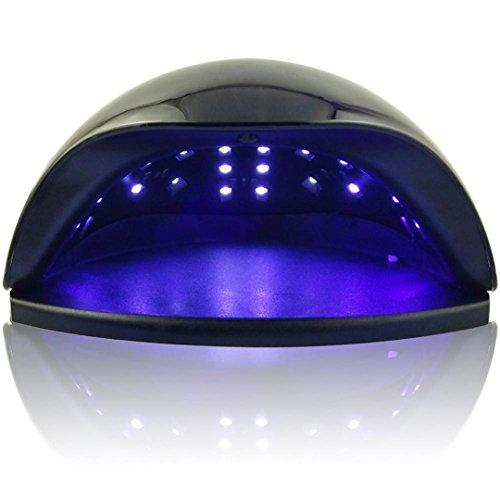 48W Nail Dryer Lamp For Nails Gel Polish Dryer UV LED Nail Lamp Gel Nail Polish Dryer Lamp Manicure Pedicure Machine Salon Tools Black