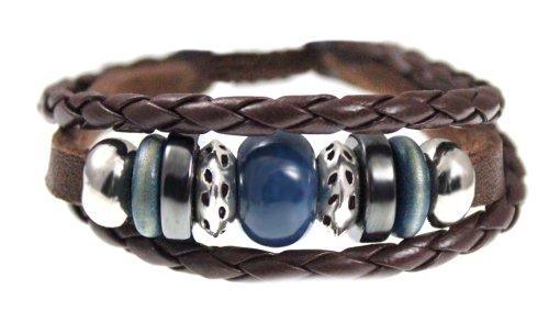 Karma Bead Leather Zen Bracelet For Men, Women, Teen, Student in Gift - Leather Bracelet Karma