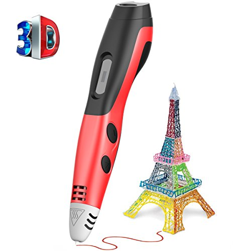 Soft Digits 3D Printing Pen for Kids Printer with 5M PCL Filament Newest Version 3D Drawing Printing Pen with LCD Display for Adults, Boys, Girls, Doodling, Artist, DIY, Best Christmas Gifts