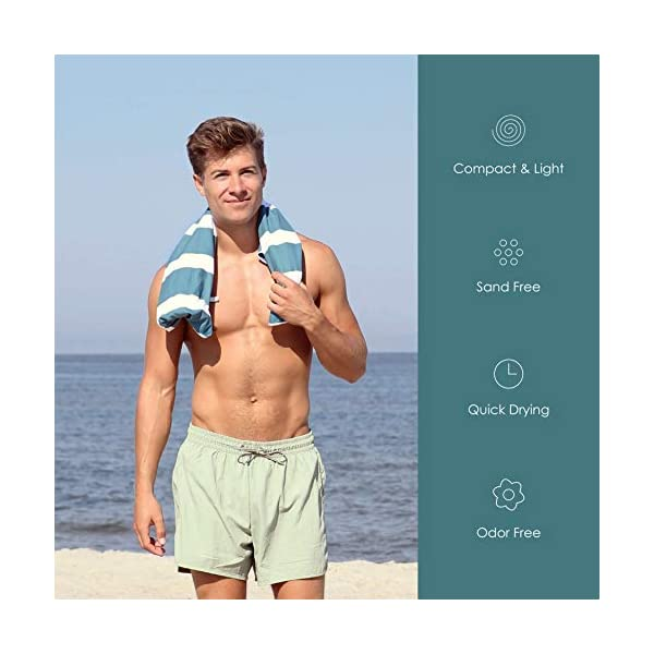 SummerSand Telo Mare Microfibra - Asciugamano Mare Antisabbia e ad Asciugatura Rapida - Telo Palestra Inodore… 4 spesavip