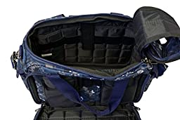 Explorer R1 Deluxe Tactical Padded Shooting Ammo Range Rangemaster Gear Carry Bag Pistol Hand Gun Case Navy Blue,Free Gift Camo Hunting Sports Caps