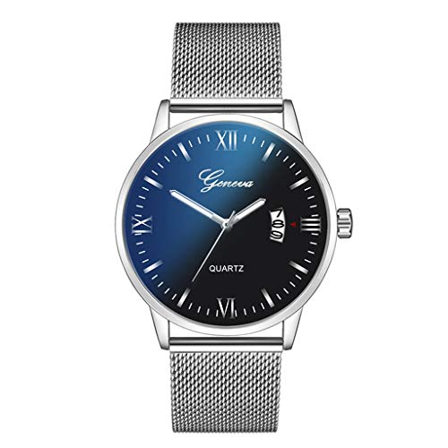 - Londony  Men's Fashion Minimalist Wrist Watch Analog Date with Stainless Steel Mesh/Leather Band Business Wrist Watch