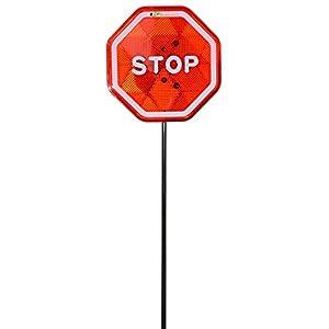 Ekarro Modern Flashing LED Stop Sign Garage Parking Assistant System