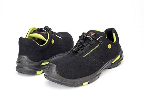 Samurai 1034285011paio di scarpe bassi Topaz S1P SRC ESD, Nero/Verde, 37
