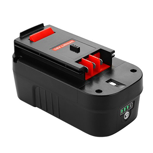 ANTRobut Replacement for 3000mAh Lithium-ion 18Volt Battery for black decker 18v battery HPB18 HPB18-OPE 244760-00 A1718 FS18FL FSB18 Firestorm Black and Decker 18 Volt Battery ()