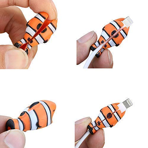 Epessa 5 PCS Cable Bites for iPhone Cable, Marine Animals Terrestrial Animals Dinosaurs and Fish Animal Bite Cable Protector are Available (Marine Animals) by Epessa (Image #6)