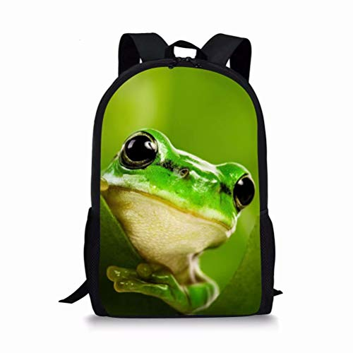 - Allcute Kids School Backpack Large Durable Elementary Preschool Book Bags for Boys Girls Frog Print