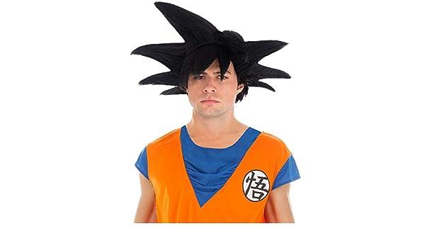Chaks Dragon Ball Peluca Goku Sayajin Accesorio Traje Negro: Amazon.es: Juguetes y juegos