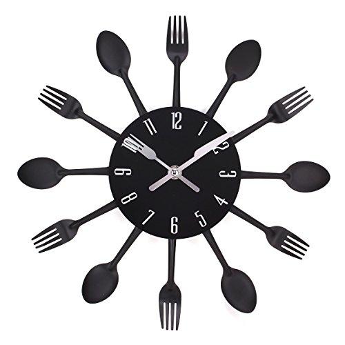 UNIQUEBELLA Cutlery Clock Kitchen Decoration