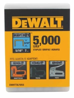 DEWALT DWHTTA7055 Heavy Duty Narrow Crown Staples 5/16 Inch Crown ()