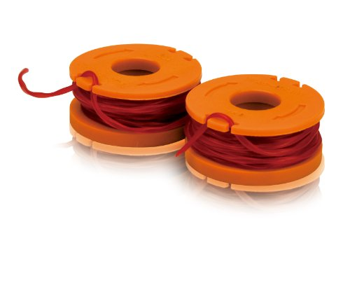 WORX WA0004 Replacement 10-Foot Grass Trimmer/Edger Spool Line 2-Pack for WG150s, WG151s, WG152, WG155, WG165,