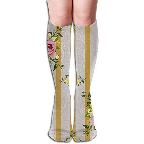 TO-JP Running Long Sports Socks Wedding-Decorative Pattern- Striation Dresses Knee Thighs Stockings. (Patterns Striation)
