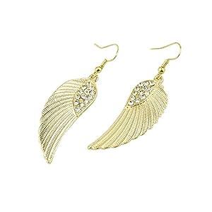 Hemlock Women Lady Jewelry Rhinestone Angel Wings Earrings