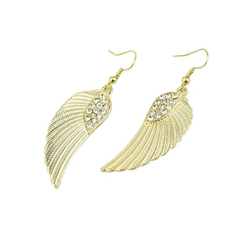 Hemlock Women Lady Jewelry Rhinestone Angel Wings Earrings