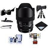 Sigma 14-24mm f/2.8 DG HSM ART Wide-Angle Zoom Lens Nikon DSLR Cameras - Bundle Lens Wrap, LensCoat RainCoat Rain Sleeve Black, Cleaning Kit, Flex Lens Shade, Mac Software Package More