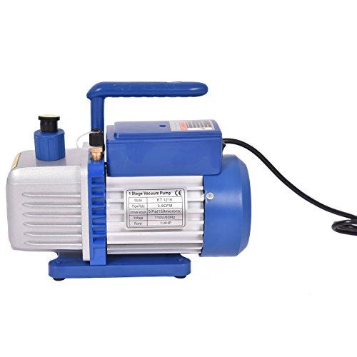 [해외]Goplus 단일 스테이지 1 4HP 3.5CFM 로터리 베인 진공 펌프 HVAC AC 에어 툴 R410a R134/Goplus Single Stage 1 4HP 3.5CFM Rotary Vane Vacuum Pump