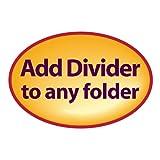 Smead Self-Adhesive Folder Divider, Side Flap