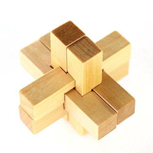 Wooden Cross Puzzle - Celendi Genius Skills Builder Cuber Cross Puzzle, 3D Wooden Interlocking Puzzle, Explore Creativity and Problem Solving
