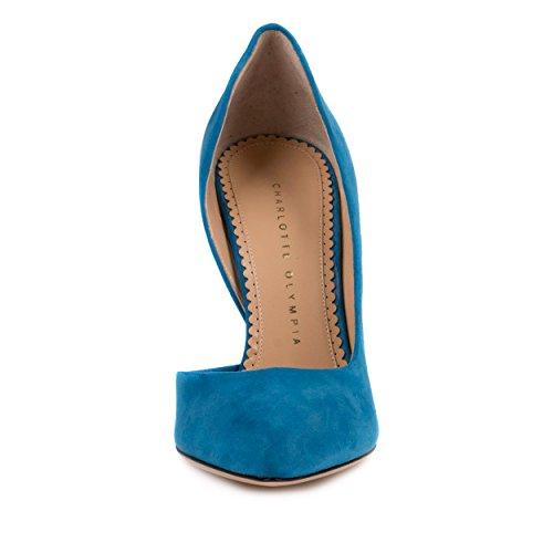 Charlotte Olympia Womens La Dame Est Une Pompe Vamp Cobalt Bleu