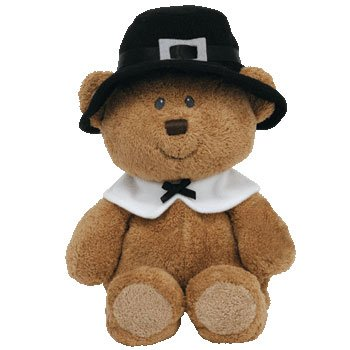 Amazon.com  Ty Pluffies Lil Pilgrim - Bear (Barnes   Noble Exclusive ... b9e336a4888