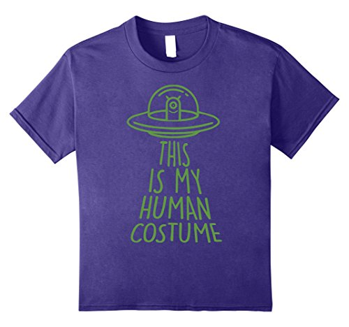 Space Ghost Costume Amazon (Kids Halloween Outer Space Alien Abduction Human Costume T-Shirt 12 Purple)