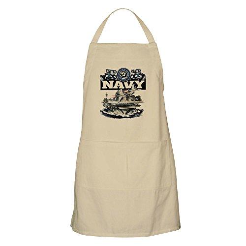 Apron US Navy Aircraft Carrier and Jets - Khaki (Uniforms Navy Khaki Us)
