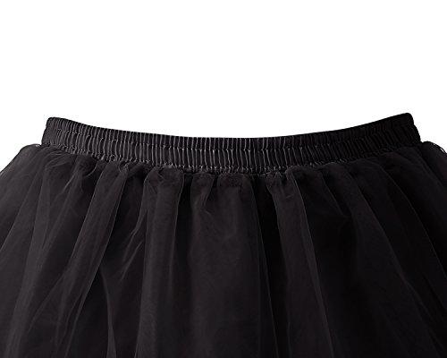 annes Tutu Jupon Vintage Noir Bridesmay Femme Rockabilly 50 Petticoat 4axwF