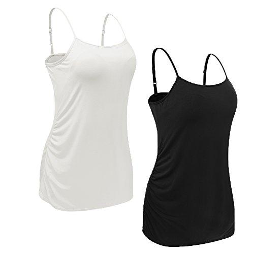 U-Pretty Basic Maternity Tank Tops Long Camisoles For (Nursing Maternity Camisole)