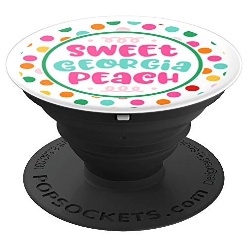 Cute Georgia Map Design Peach - PopSockets Grip and Stand for Phones and Tablets
