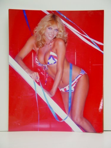 Sybil Danning in stars and stripes bikini with big smile 11 x 14 Poster Photo ()