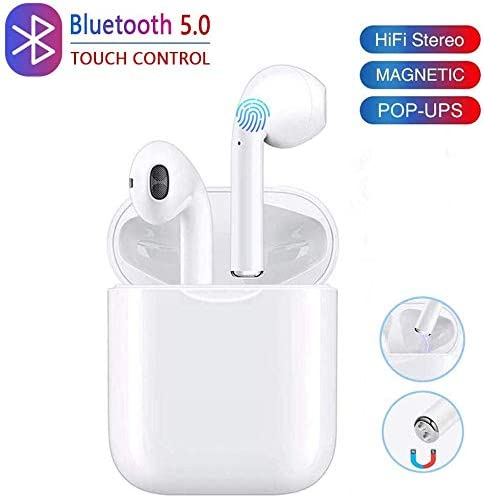 Bluetooth 5.0 Wireless Earbuds Headsets Bluetooth Headphones Pop-ups Auto Pairing Fast Charging for Earphones Samsung iOS Android Huawei Sport Earbuds