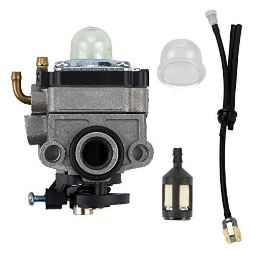 Yermax 753-1225 Carburetor with Fuel Line Kit for Ryobi 650r 825r 825RA 875r 890 890r Handheld Trimmer