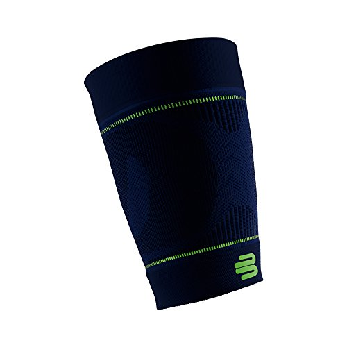 Bauerfeind Sports Compression Upper Leg Sleeves (1 Pair) - Thigh & HamstringCompression for Improved Blood Circulation & Recovery - Thigh Wrap for Quad Support (Navy, ()