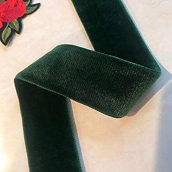 1.5-Inch Selling Per Yard  Burgundy Double Face Nylvalour Swiss Velvet Nylon Ribbon