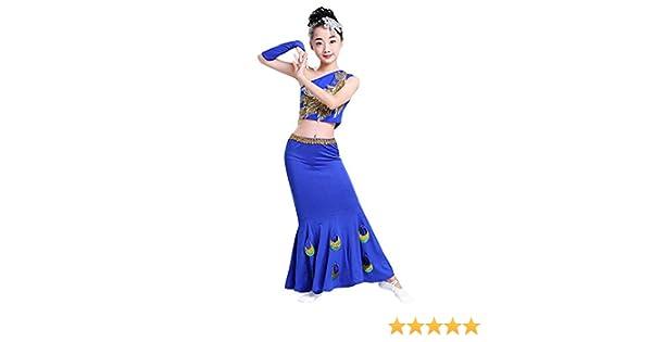uirend Moderna Vientre Danza Ropa Niña Rendimiento Vestidos ...