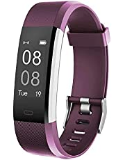 YAMAY Fitness Tracker, Activity Tracker Watch with Heart Rate Monitor Waterproof IP67 Fitness Watch,Sleep Monitor Step Counter Pedometer Smartwatch for Women Men Call SMS Push for iOS Android Phone