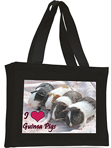Guinea I Tote bag Black Cotton Pigs Love shopping Pigs Cotton Guinea I Love URqdq