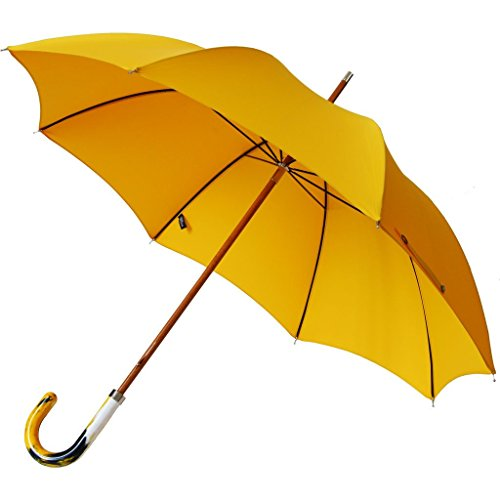 London Undercover City Gent Multi Yellow Umbrella | Recycled Handle LU MCG-004 by London Undercover