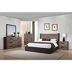 Coaster Home Furnishings Weston 5-Piece California King Bedroom Set Weathered Oak and Rustic Coffee Brown/Traditional