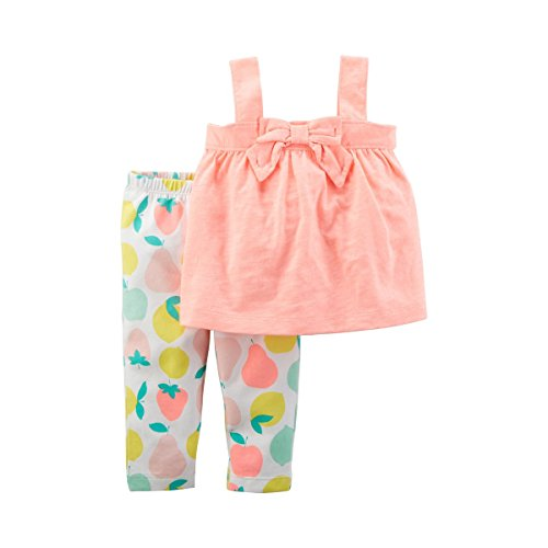 Carter's Baby Girls' 2-Pc. Bow Tunic and Fruit Print Leggings Set 6 Months