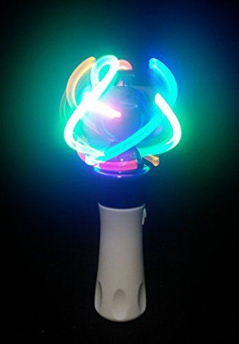 Paradise Treasures Light Up LED Orbiter Spinning Wand Hand Held Multi-Colored Wand
