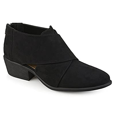 Journee Collection Womens Faux Suede Crossover Booties